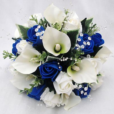 Pretty Blue And White Wedding Flowers Orderyourchoice